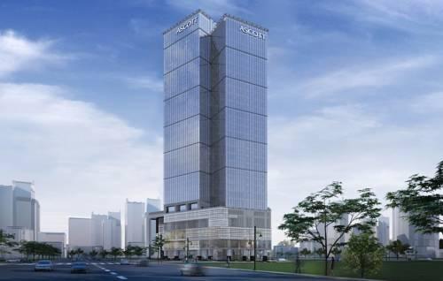 Wysoki budynek hotelu ascott bonifacio global city manila