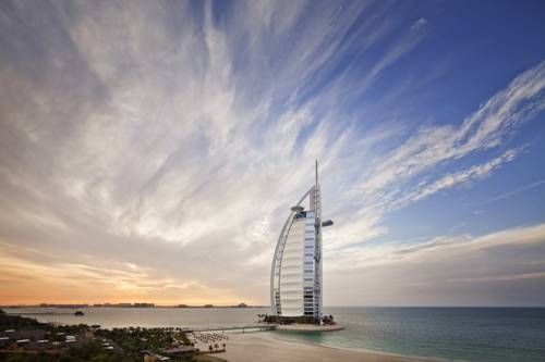 Popularny hotel w Burdż al-Arab, Emiraty Arabskie