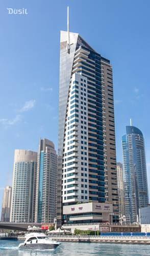 Hotel Dusit Residence Dubai Marina z niesamowity widokiem z ostatniego piętra na miasto