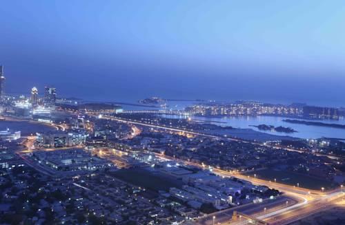 Widok na Dubaj z Fraser suites dubai