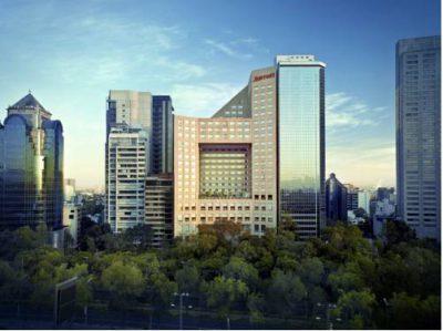 Nowoczeny budynek jw marriott hotel mexico city