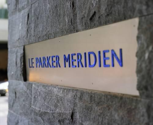 Tablica informująca o nazwie hotelu Parker New York, Nowy Jork