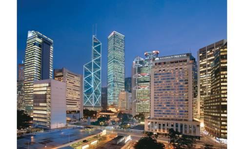 Wido na wieżowce oraz hotel Mandarin Oriental, Hongkong
