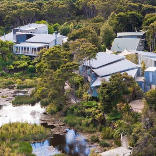 Hotel oraz restauracja Awaroa Lodge, Nowa Zelandia