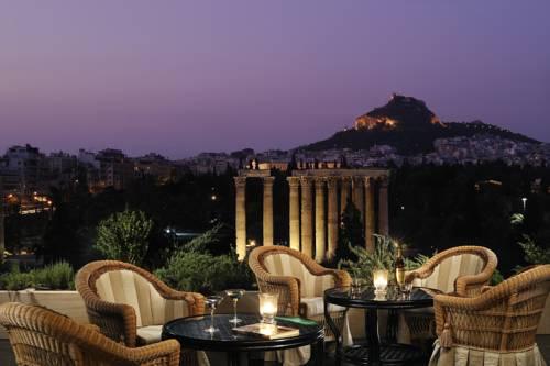 Widok z hotelowego tarasu Royal Olympic Hotel na Olimp