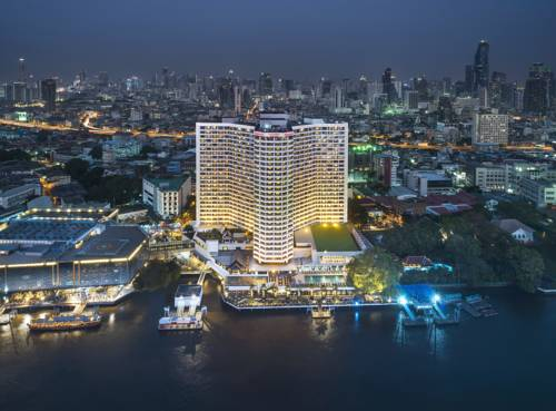 Widok z lotu ptaka na royal orchid sheraton hotel towers