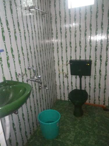 Łazienka z zielonym elementami w hotelu The Park, Indie