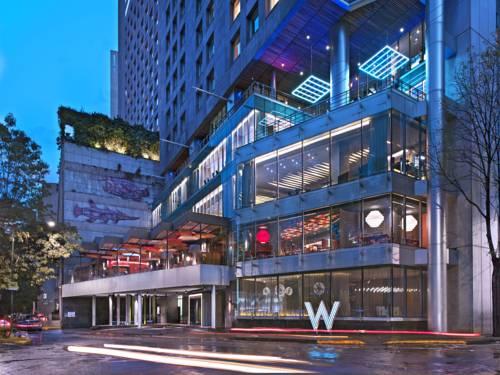 Hotel W i jego taras w Mexico city