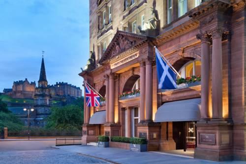 Główne wejście do hotelu Waldorf Astoria Edinburgh - The Caledonian, Wielka Brytania