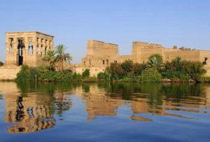 Odbicie świątyni w Egipcie, Aswan Philae temple