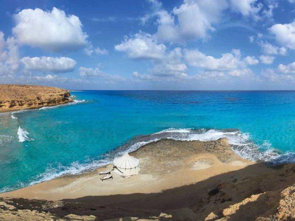 Panorama z ujęciem morza Egipt