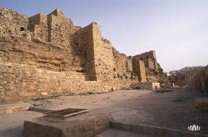 ruiny zamku Karak w Jordanii