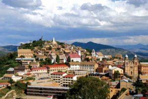 Widok na miasto na Madagaskarze