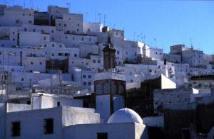 Białe domki w Maroko
