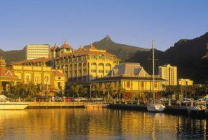 Widok na budowle Mauritius