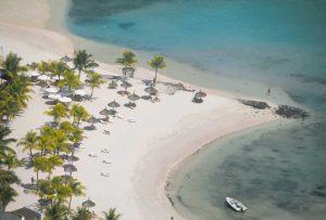 Widok na plaże na mauritius