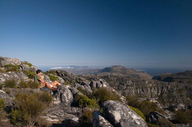widok na góry stołowe w RPA