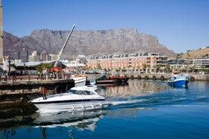 Zatoka i jachty w RPA
