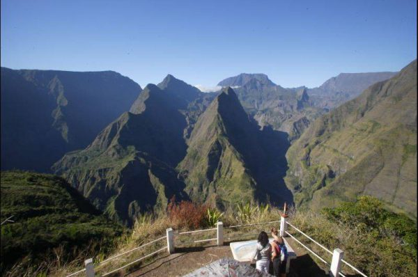 Widok na góry w Reunion