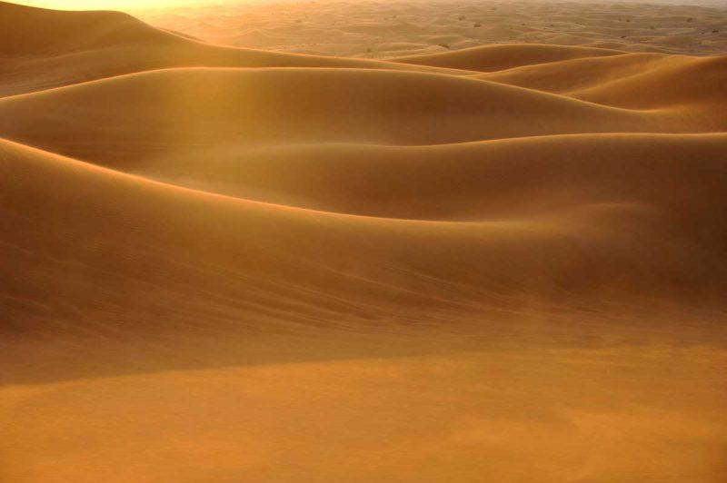 wzgórza pustynne Dubaju