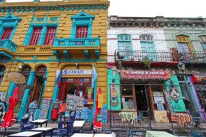 Sklepiki na głównej ulicy, Buenos Aires, Argentyna