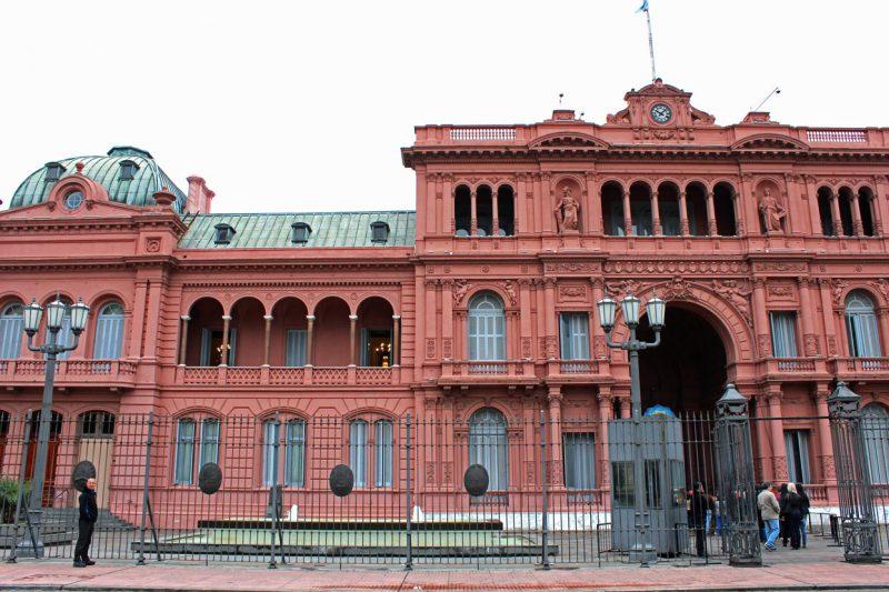 Różowy budynek w buenos Aires, Argentyna