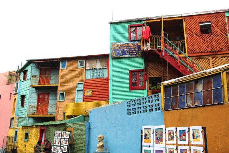 Kolorowe budynki w Argentynie. Buenos Boca