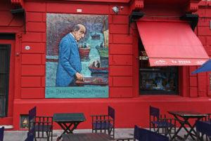Czerwony budynek , Buenos Boca, Argentyna