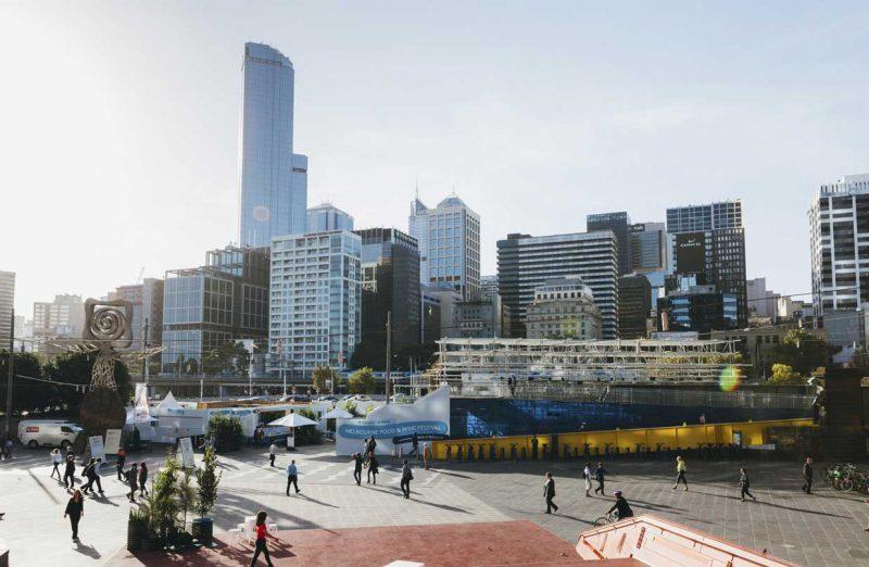 panorama miasta Melbourne, Australia