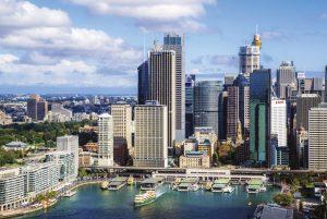 drapacze chmur położone w Sydney