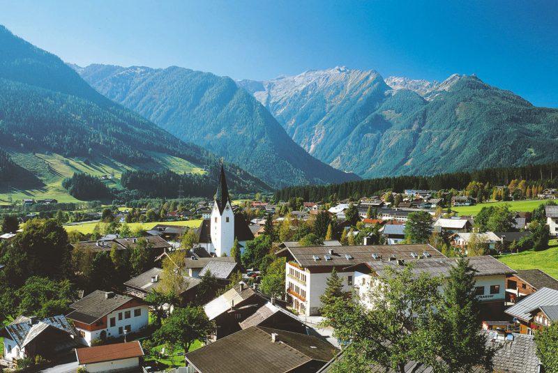 Panorama gór w Salzburgerland, Austria