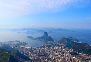 Widok na brazylię i Rio