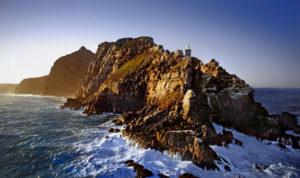Wzburzone morze i cape town cape point