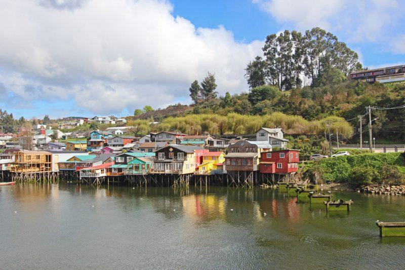 Domki na wodzie, Chiloe, Chile