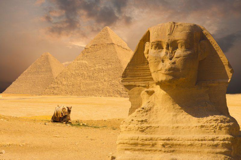 Piramidy w egipcie Kair