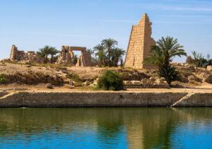 Widok z Nilu Egipt