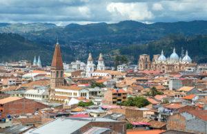 Widok na miasto Quito oraz góry, Ekwador