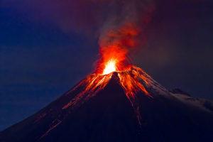 Czynny wulkan, Ekwador