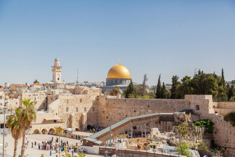 widok na panoramę miasta Jerozolima