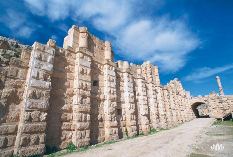 mury miasta Jordania