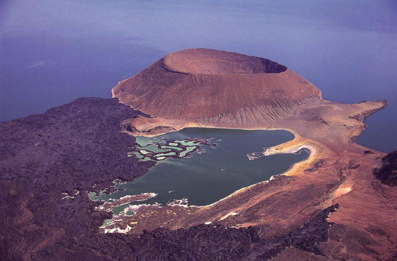 Widok na jezioro turkana Kenia