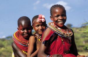 Dzieci z plemienia w Kenii