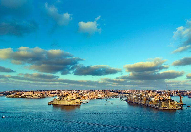 Cudowne niebo nad Grand Harbour, Malta