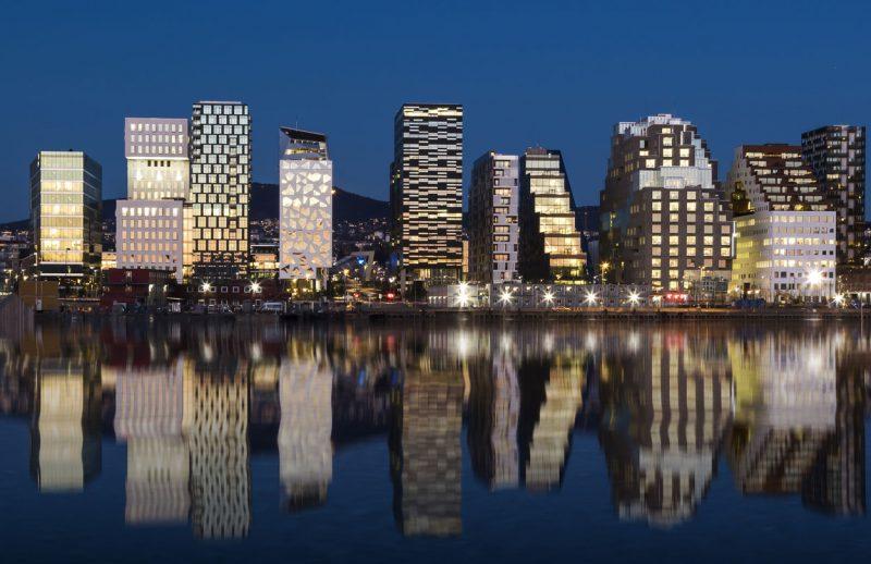 Nowoczesne domy w Oslo, Norwegia