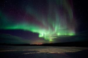 Zorza polarna nocą, Norwegia
