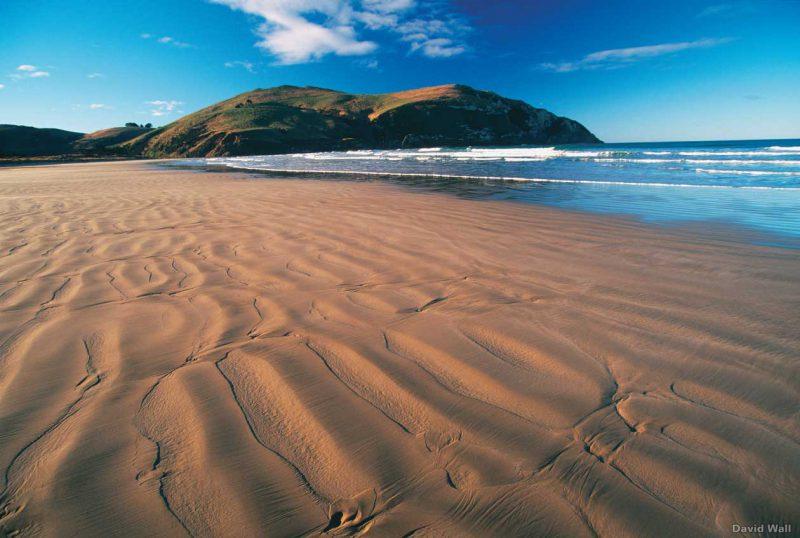 piaszczysta plaża Cannibal Bay, Nowa Zelandia
