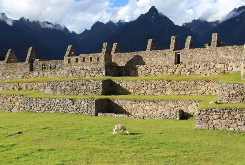Kamienne budowle w Machu Picchu. Peru