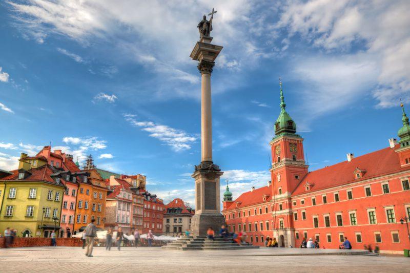 pomnik króla Zygmunta III Wazy na placu Zamkowym w Warszawie