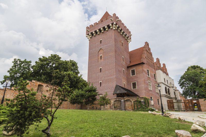 widok z zewnątrz na zamek królewski w Poznaniu