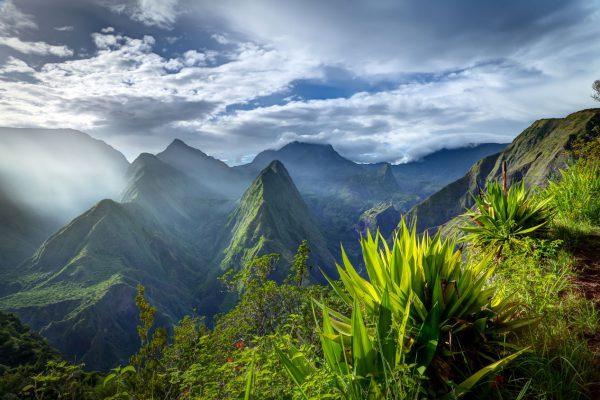 Szczyty gór w Reunion
